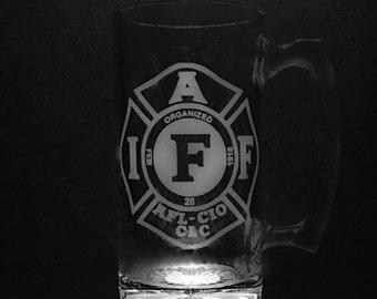 International Association of Firefighters 25 Ounce Beer Mug.