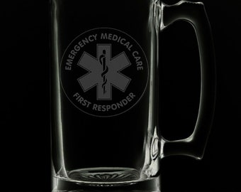 First Responder 25 Ounce Beer Mug (Also Available in 16oz & 12oz)