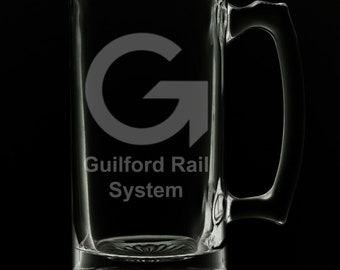 Guilford Rail System 25 Ounce Beer Mug (Also Available in 16oz & 12oz)