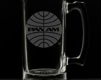 Pan American Airways 25 Ounce Personalized Beer Mug