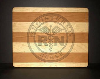 Registered Nurse Cuttingboards Made Out Of Cherry and Maple (8 X10 size displayed)