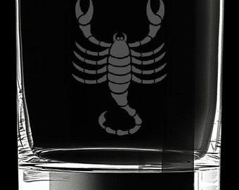 Scorpio 10 Ounce Rocks Glass