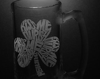Kiss Me I'm Irish Beer Mug