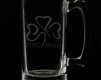 Irish 25 Ounce Beer Mug (Also Available in 16oz & 12oz)