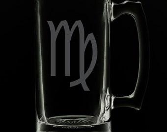 Virgo 25 Ounce Beer Mug (Also Available in 16oz & 12oz)