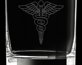 Medical Logo 10 Ounce Rocks Glass