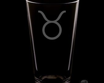 Taurus Pint Glass.
