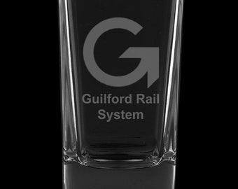 Guilford Rail System 2.75 Ounce Dessert Shot Glass (Also available in 2.0oz)