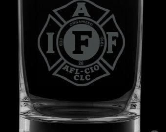 IAFF 13 Ounce Rocks Glass