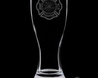 Fire Department 18 Ounce Pilsner Glass