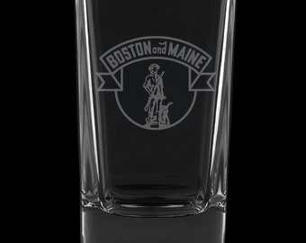 Boston And Maine Railroad 2.75 Ounce Dessert Shot Glass (Also available in 2.0oz)
