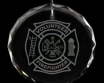 Volunteer Fire Department Christmas Ornament