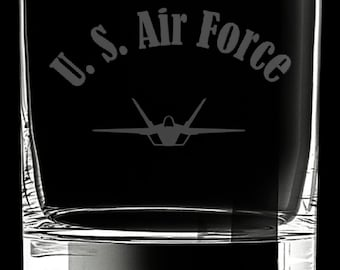 United States Air Force 10 Ounce Rocks Glass
