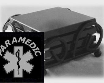 Paramedic Drink Coasters Made Out Of Black  Granite, or Polished Slate (Black Granite - Best Value)