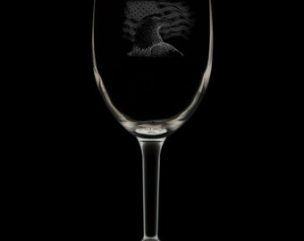 US Veteran 12 Ounce Wine Glass (Available With Stem And Stemless)