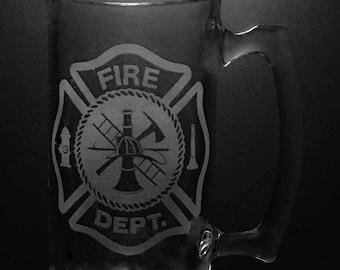 Fire Department Beer Mug