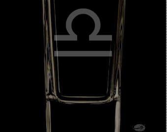 Libra Shot Glass.