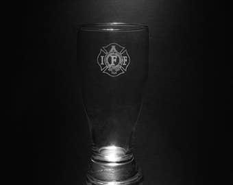 IAFF 18 Ounce Pilsner Glass