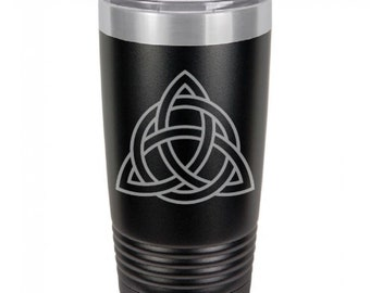 Celtic Knot 20 Ounce Black Polar Camel Tumbler (Also Available in Red, White, Gray, Green, & Blue)