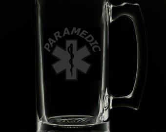 Paramedic 25 Ounce Personalized Beer Mug