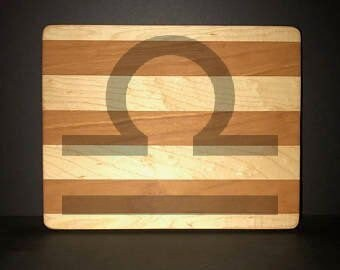 "Libra 8""X 10"" Hand Made Cutting Board (Also Available in 7""X 9"" & 12""X 14"")"