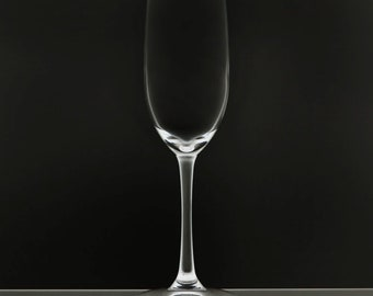 Blank 8 Ounce Stemmed Wine Flute