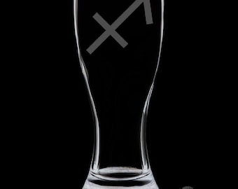 Sagittarius 18 Ounce Pilsner Glass