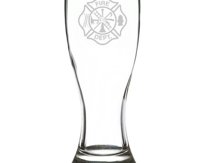 Featured listing image: Fire Department 18 Ounce Personalized Pilsner Glass