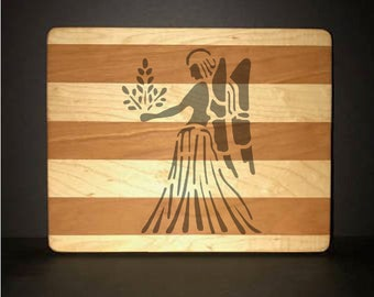 "Virgo 8""X 10"" Hand Made Cutting Board (Also Available in 7""X 9"" & 12""X 14"")"