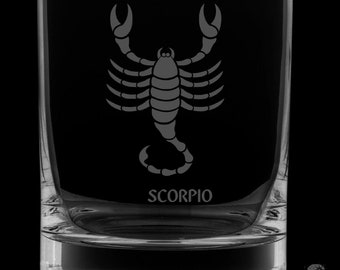 Scorpio 13 Ounce Rocks Glass