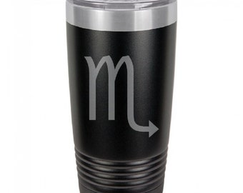 Scorpio 20 Ounce Black Polar Camel Tumbler (Also Available in Red, White, Gray, & Blue)