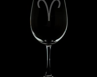 Aries 12 Ounce Wine Glass (Available With Stem And Stemless)