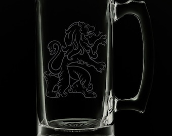 Scottish Lion 25 Ounce Beer Mug (Also Available in 16oz & 12oz)