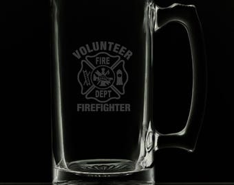 Volunteer Fire Department 25 Ounce Personalized Beer Mug