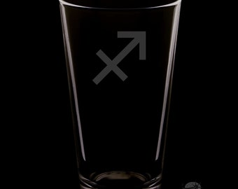 Sagittarius 16 Ounce Personalized Pint Glass