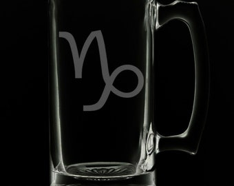 Capricorn 25 Ounce Beer Mug (Also Available in 16oz & 12oz)