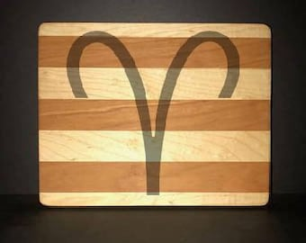 "Aries 8""X 10"" Hand Made Cutting Board (Also Available in 7""X 9"" & 12""X 14"")"