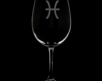 Pisces Wine Glass.
