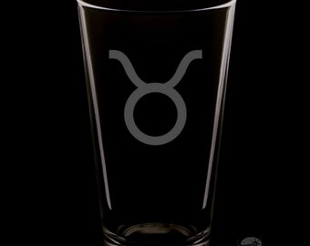 Taurus 16 Ounce Pint Glass
