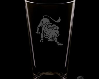 Leo 16 Ounce Pint Glass