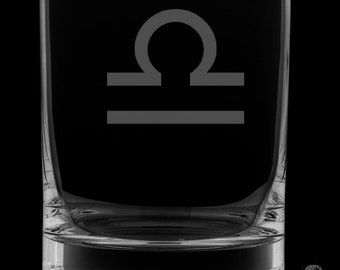 Libra Rocks Glass.