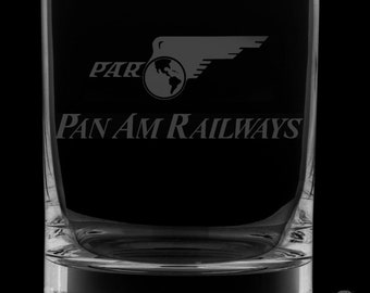 Pan American Railways 13 Ounce Rocks Glass