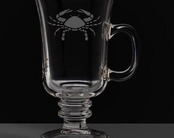 Cancer 8.5 Ounce Irish Coffee Mug