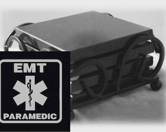 Paramedic Drink Coasters Made Out Of Black  Granite, or Polished Slate (Black Granite - Best Value)