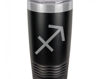 Sagittarius 20 Ounce Black Polar Camel Tumbler (Also Available in Red, White, Gray, & Blue)
