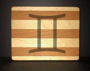 "Gemini 8""X 10"" Hand Made Cutting Board (Also Available in 7""X 9"" & 12""X 14"")"