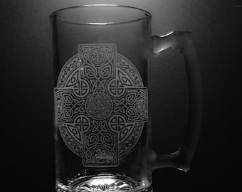 Celtic Cross Beer Mug