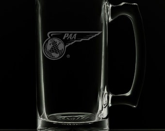PanAm 1944 Wing Globe Logo 25 Ounce Beer Mug (Also Available in 16oz & 12oz)