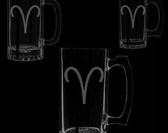 Aries Symbol Beer Mugs