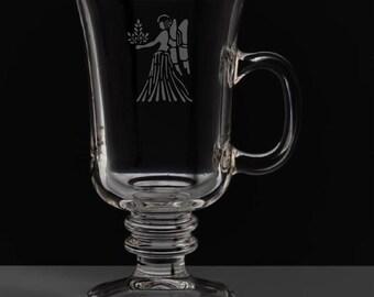 Virgo 8.5 Ounce Irish Coffee Mug